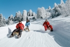 Schlittelfahrt in Klosters-Davos