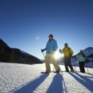 Schneeschuhlaufen am Davosersee
