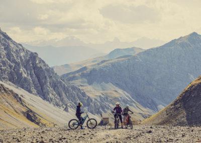 Mountainbiker in Klosters-Davos