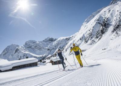 Langläufer in Klosters-Davos