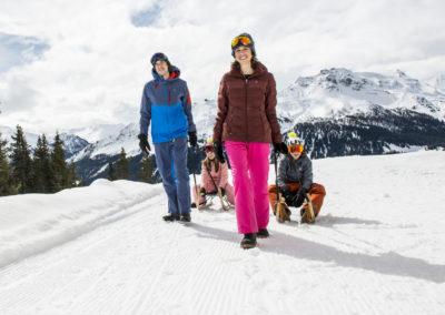 Schlitteln in Klosters-Davos